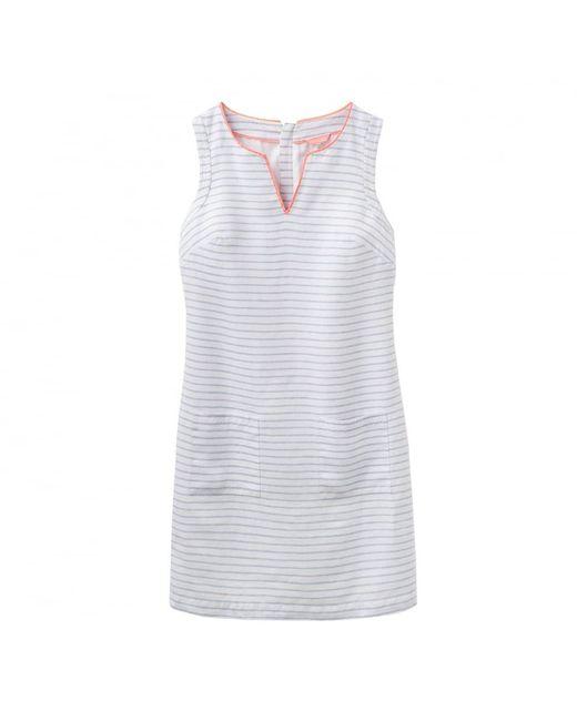 Joules - White Lena Linen Notch Neck Ladies Dress (u) - Lyst