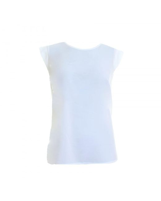 French Connection | Blue Polly Plains Womens Cappedtee Top | Lyst