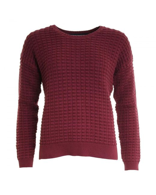 French Connection | Red Mozart Popcorn Cotton Jumper | Lyst