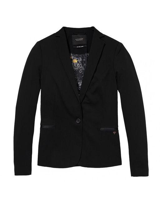 Maison Scotch | Black Classic Special Lining Womens Blazer | Lyst