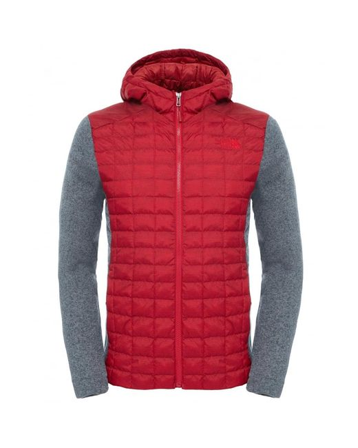 The North Face | Red Thermoball Gl Mens Hoodie for Men | Lyst