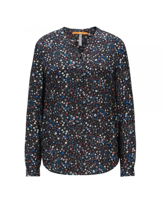 BOSS - Blue Casual Efelize_12 Womens Blouse - Lyst