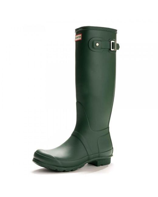 Hunter - Green Original Tall Ladies Wellington Boots - Lyst