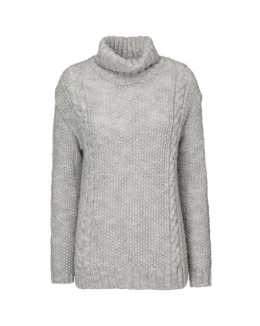 Woolrich - Gray Alpaca Ladies Turtle Neck - Lyst