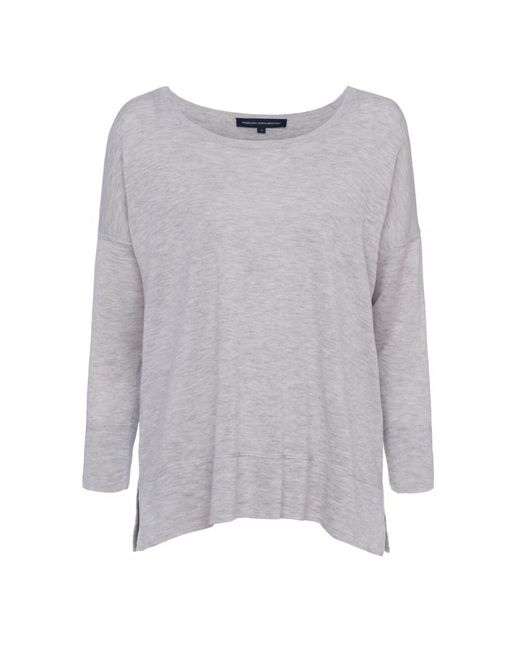 French Connection | Gray Spring Light Knits Long Sleeve Scoop Neck Womens Jumper | Lyst