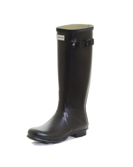 Hunter | Black Norris Field Neoprene Lined Ladies Boot | Lyst