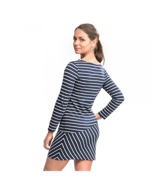 French Connection - Blue Spring Tim Tim Long Sleeve Slash Neck Womens Dress - Lyst