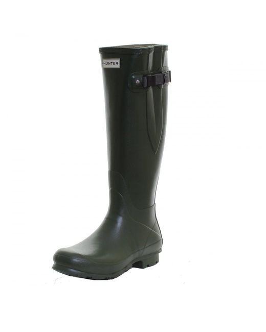Hunter | Green Field Norris Side Adjustable Ladies Wellington Boot | Lyst