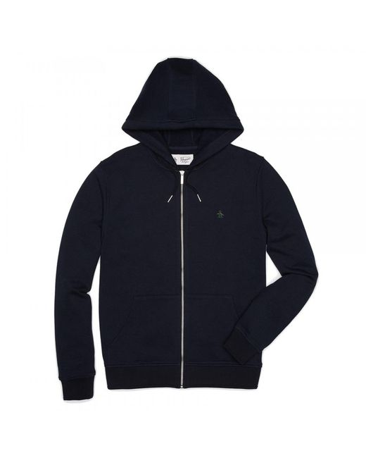 Original Penguin | Blue Raised Rib Pique Hooded Mens Sweatshirt for Men | Lyst