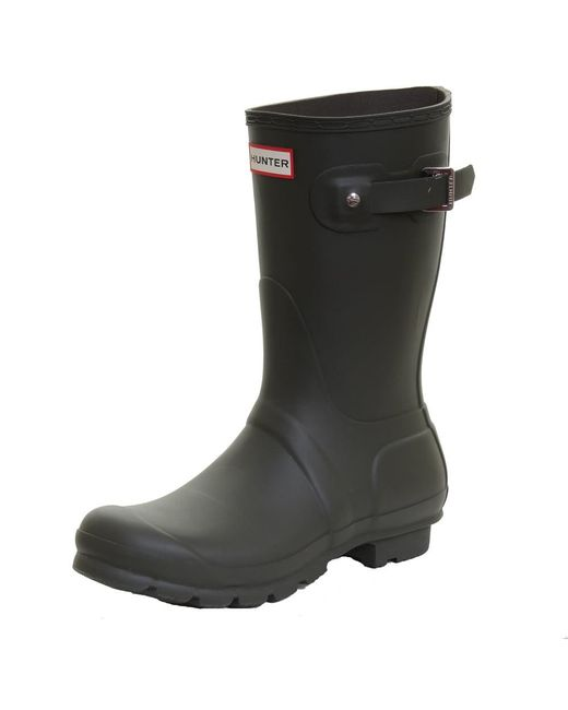 Hunter | Green Original Short Ladies Wellington Boots | Lyst