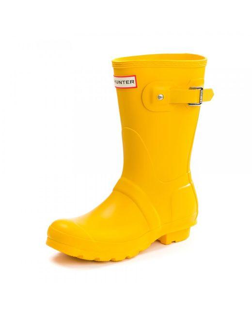 Hunter - Yellow Original Short Ladies Wellington Boots - Lyst
