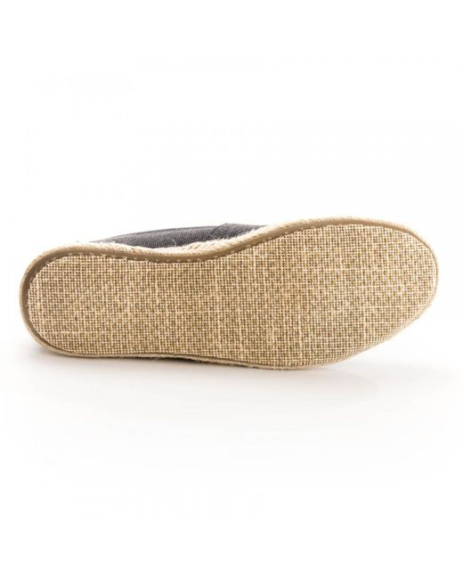 ... TOMS - Alpargata Black Washed Canvas Rope Sole Womens Espadrille - Lyst  ... 358e54a6ee2