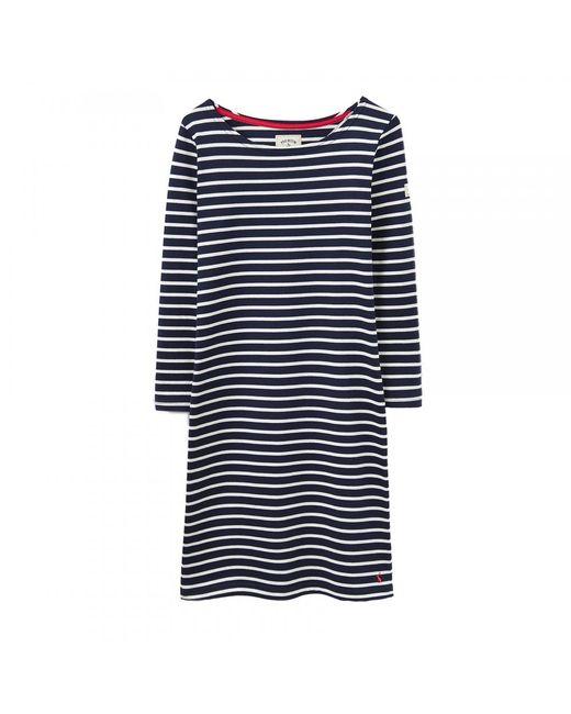Joules - Blue Riviera 3/4 Sleeve Womens Dress (x) - Lyst