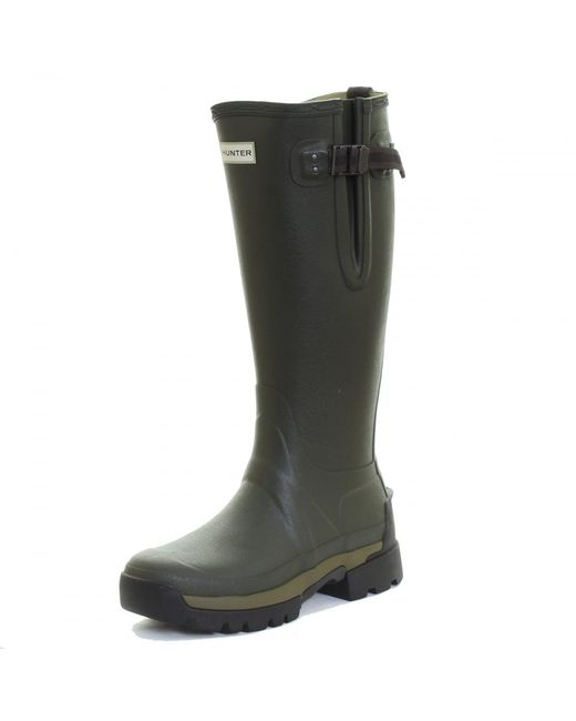 Hunter - Green Balmoral 2 Adjustable Neoprene Ladies Wellingtons - Lyst