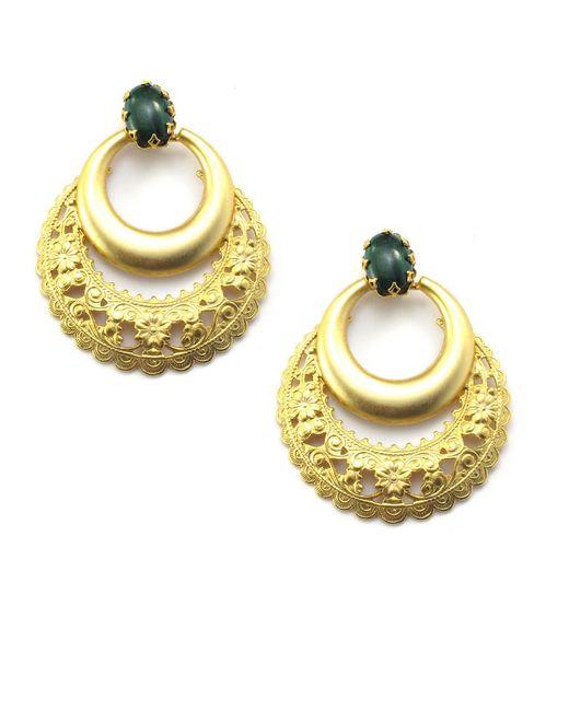 Elizabeth Cole | Metallic Portia Earrings | Lyst