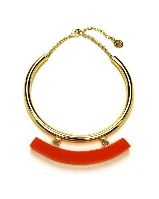 Ben-Amun - Havana Collar With Orange Resin Bar - Lyst