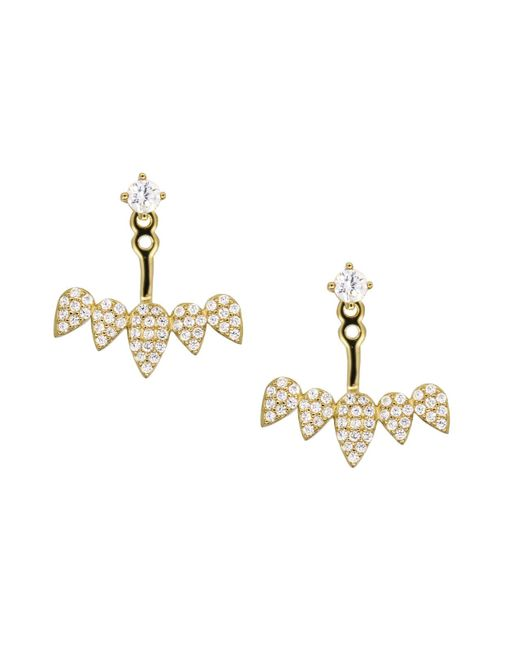 Rachael Ryen - Metallic Petal Ear Jackets - Gold - Lyst