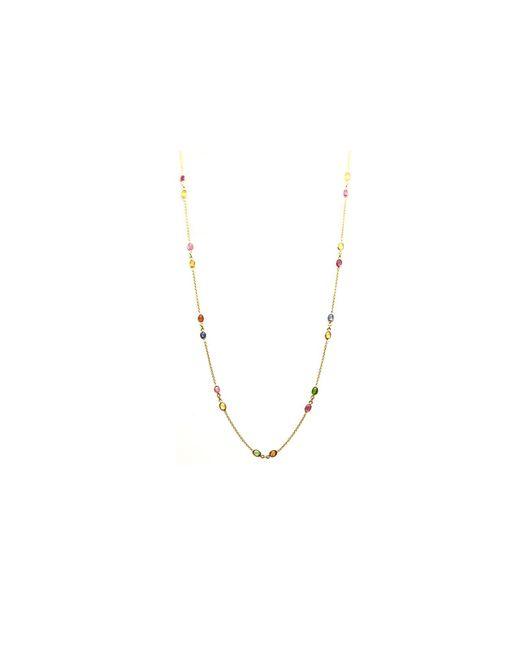 Trésor | Metallic Kt Yellow Gold Necklace With Multi Tourmaline | Lyst