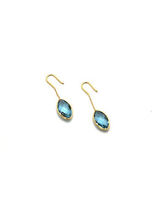 Trésor | K Yellow Gold Earring With Swiss Blue Topaz | Lyst