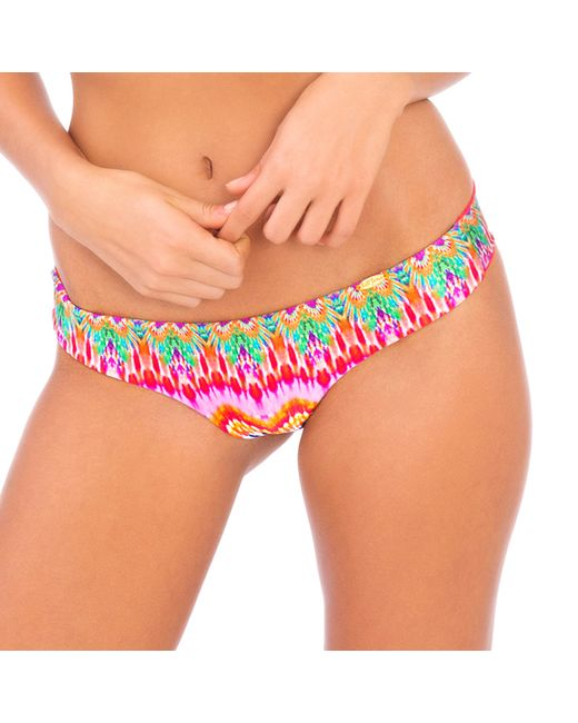 Luli Fama | Sunkissed Laughter Wavey Back Ruched Bottom In Multicolor (lp) | Lyst