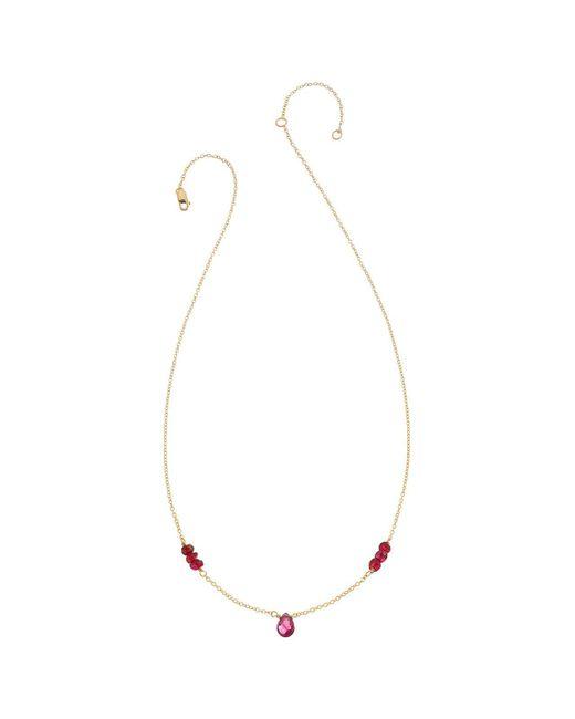 Heather Hawkins - Black Tiny Gemstone Layering Necklace - Lyst