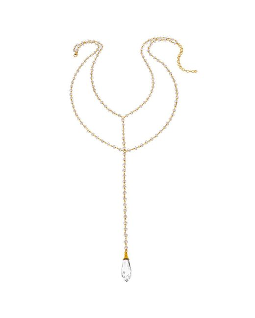 Heather Hawkins - Metallic Double Y Gemstone Necklace - Lyst