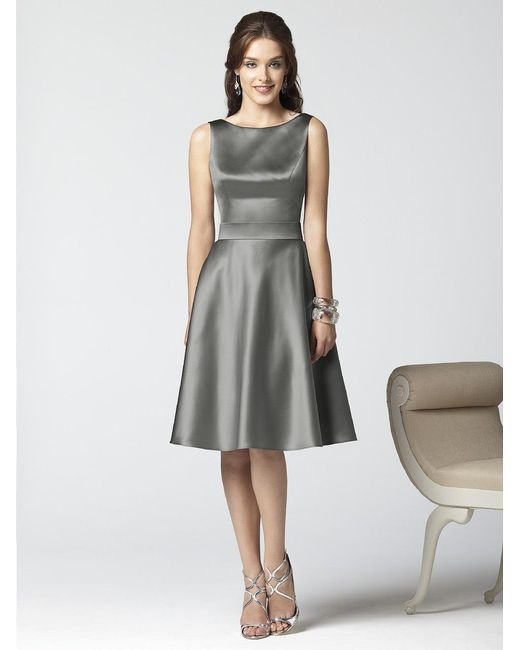 Dessy Collection - Dress In Charcoal Gray - Lyst