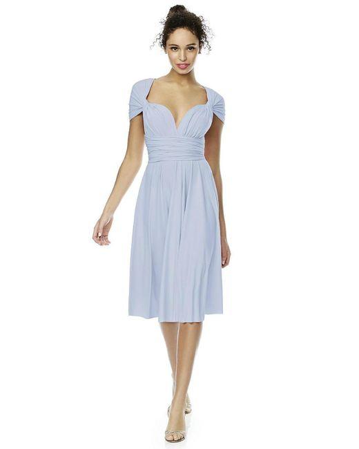 Dessy Collection - Blue Twist Dress In Heather - Lyst