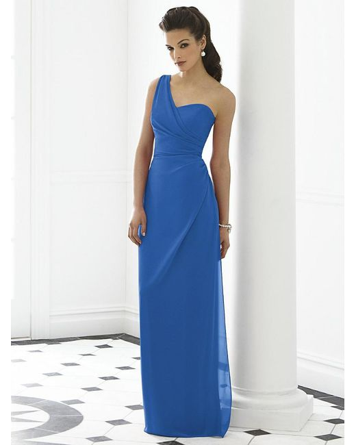After Six | Blue Dress In Lapis | Lyst