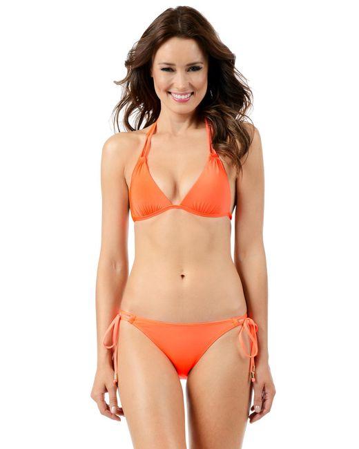 Voda Swim - Neon-orange Double String Bottom - Lyst