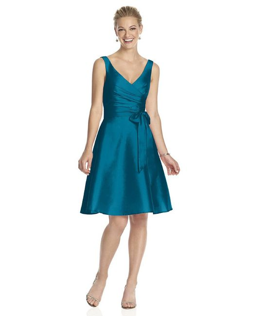 Alfred Sung - Blue D Bridesmaid Dress In Caspian - Lyst