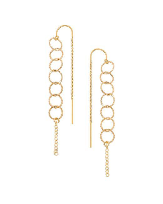 Heather Hawkins   Metallic Open Link Thread Thru Earrings   Lyst
