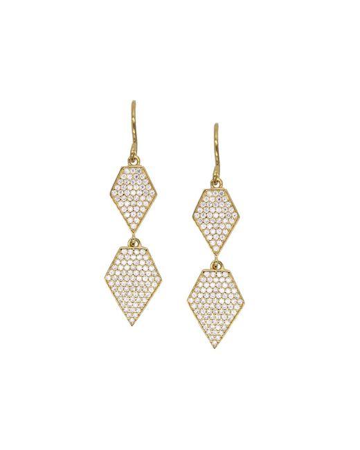 Rachael Ryen - Metallic Double Diamond Drops - Lyst