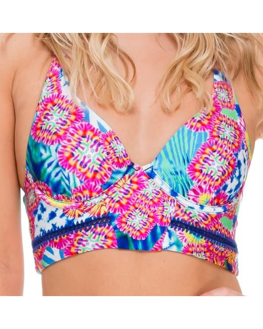 Luli Fama   Stitched Bustier In Multicolor (l)   Lyst