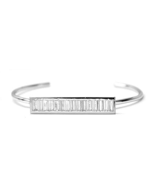 Rachael Ryen | Metallic Baguette Bar Bracelet - Silver | Lyst