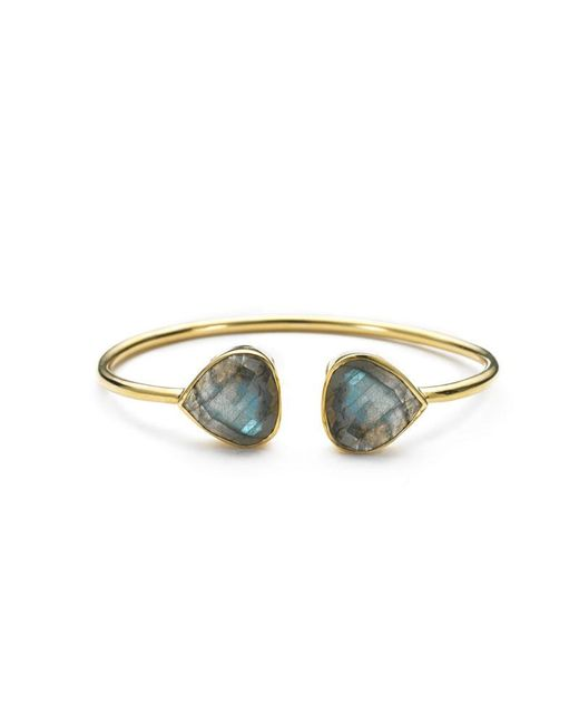 Margaret Elizabeth | Gray Teardrop Bangle Labradorite | Lyst