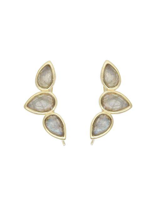 Rachael Ryen - Metallic Teardrop Wing Pins - Labradorite - Lyst