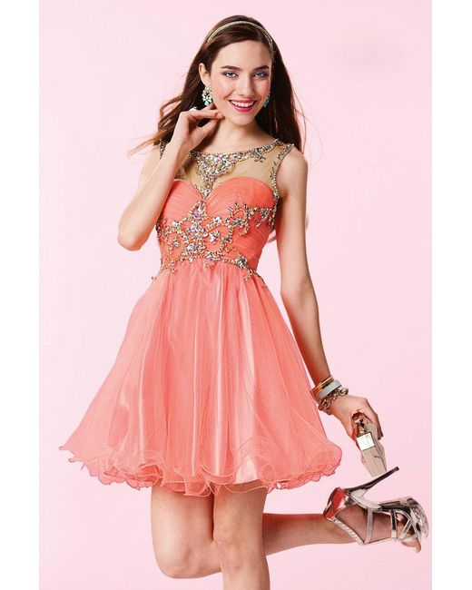Alyce Paris - Pink Homecoming - Dress In Coral - Lyst