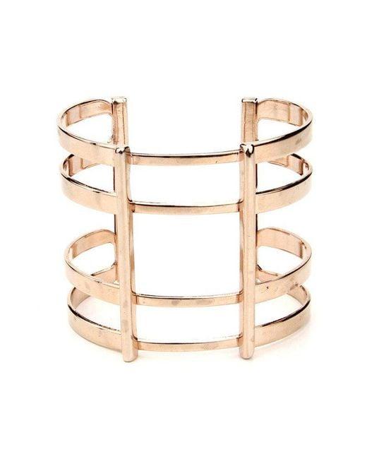 Ben-Amun - Metallic Golden Cage Cuff - Lyst