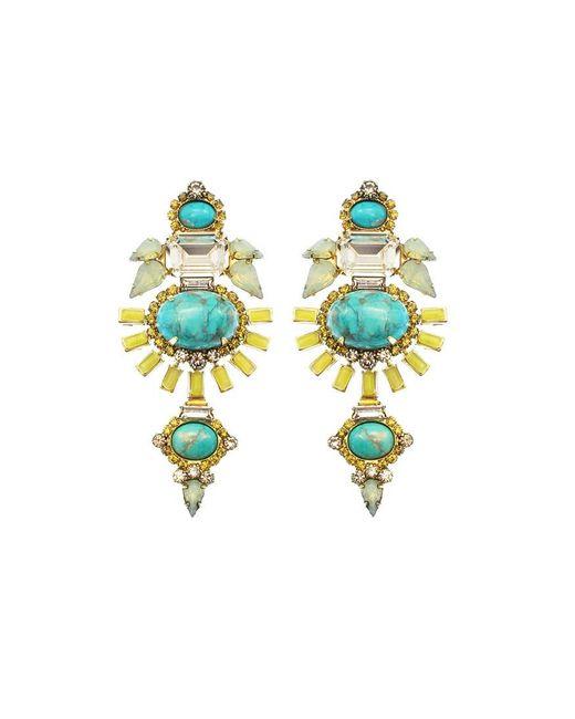Elizabeth Cole   Blue Henning Earring   Lyst