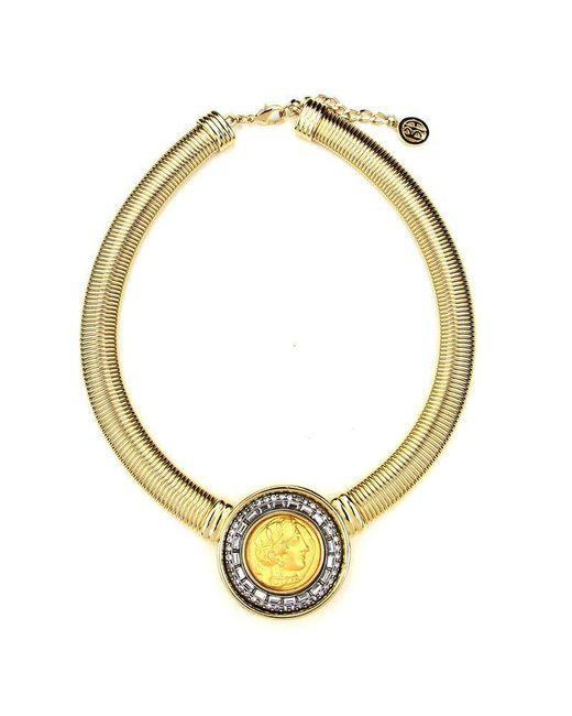 Ben-Amun - Metallic Roman Coin Gold Cobra Chain Necklace - Lyst