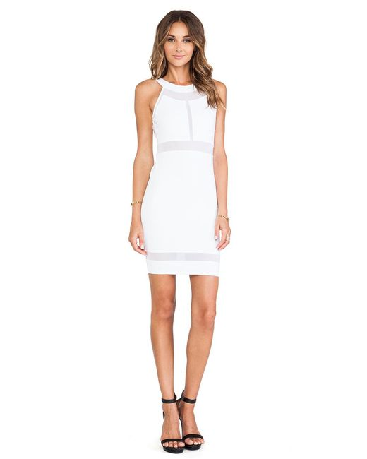 Donna Mizani - Paneled Halter Dress In White - Lyst