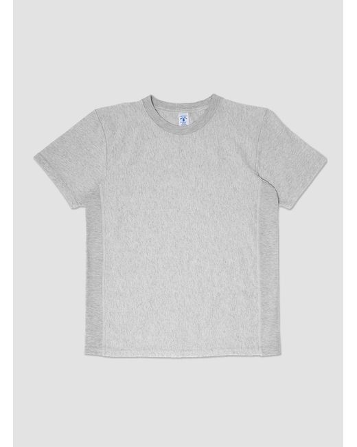 Velva Sheen - White Reverse Weave Ss Tee for Men - Lyst