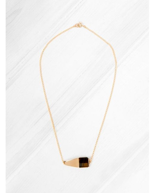 Helena Rohner | Multicolor Tigers Eye Square Necklace | Lyst