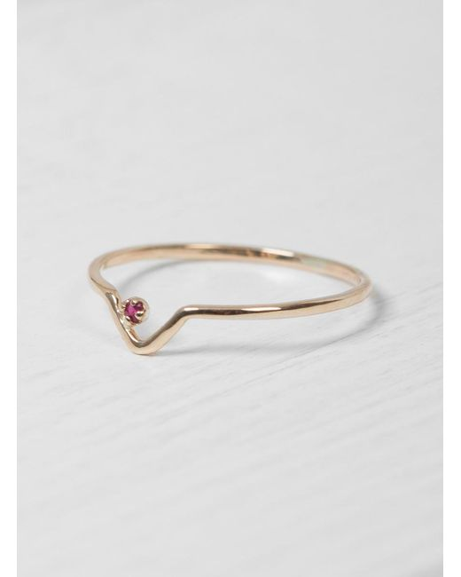 Wwake | Red Ruby Triangle Lineage Ring | Lyst