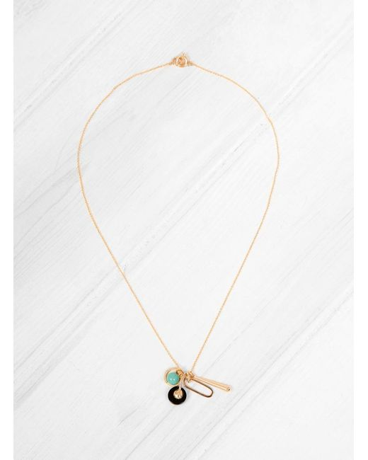 Helena Rohner | Metallic Onyx & Aqua Beads Charm Necklace | Lyst
