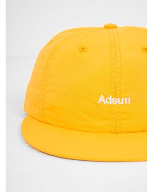 on sale 4d7aa dc78f Adsum - Yellow Nylon Snapback Logo Cap for Men - Lyst ...