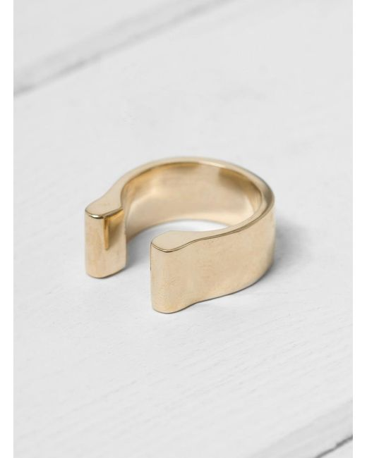 Quarry - Metallic Mood Vertical Ring - Lyst