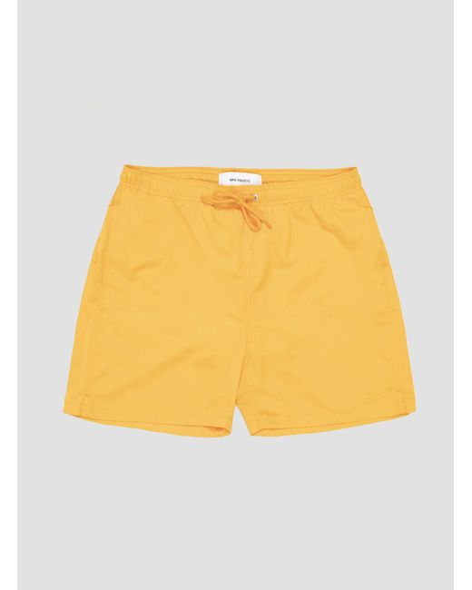 6d9459bf81 Norse Projects Hauge Swim Shorts Sunwashed Yellow in Yellow for Men ...