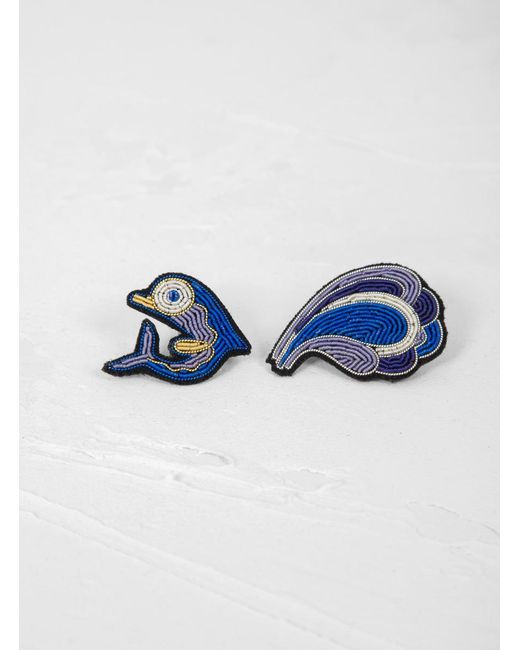 Macon & Lesquoy - Blue Dolphine Brooch - Lyst